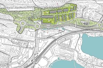 Planlegger 255 nye boliger i Skrenten og Skiveien
