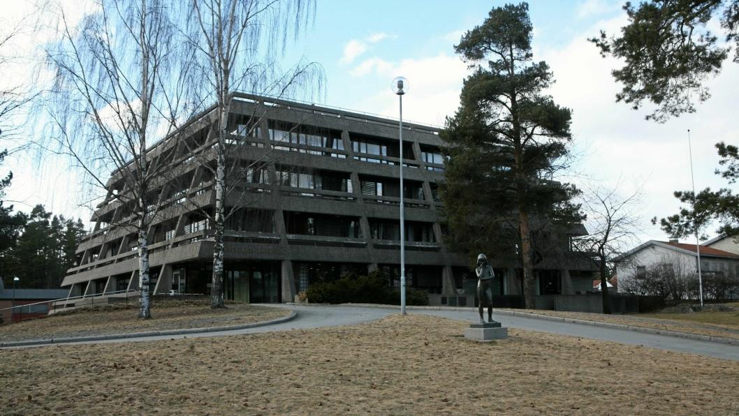 SIGNALLBYGG: Oppegård rådhus er et signalbygg, mener Anne-May Kristiansen og Solveig Tendal.