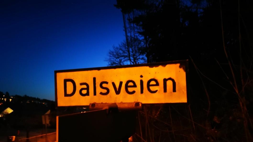 FORESLÅTT ENDRET: Dalsveien på Kolbotn er en av de 15 veiene som er foreslått skal få nytt navn i Nordre Follo kommune.