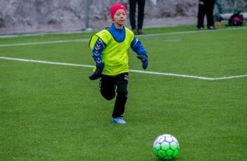 Solveig Dahl-Hilstad (9) i fint driv.