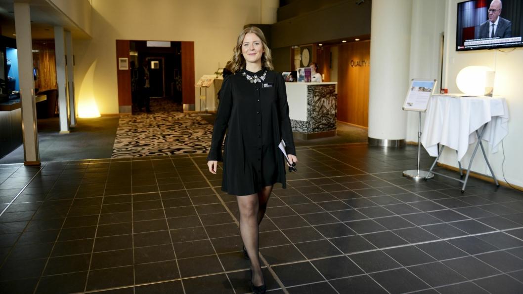 NÆRHOTELL: Entry er det eneste hotellet i kommunen, og hotelldirektør Malin Petterson håper lokalbefolkningen vil bruke dem enda mer enn de gjør i dag.