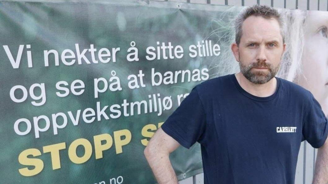 BEKYMRET FOR BARNAS OPPVEKSTMILJØ: Paal Sjøvall fra bevegelsen Stopp Støyen.