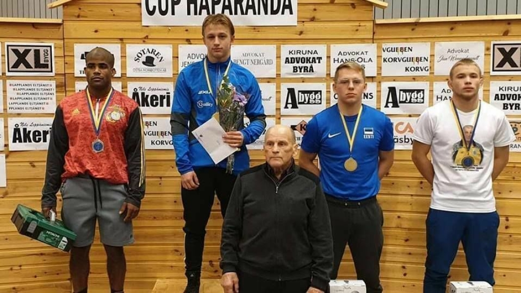 PÅ TOPP: Kolbotn Håvard Jørgensen gikk til topps i Haparanda Cup foran USA- og Ukrainia-brytere.