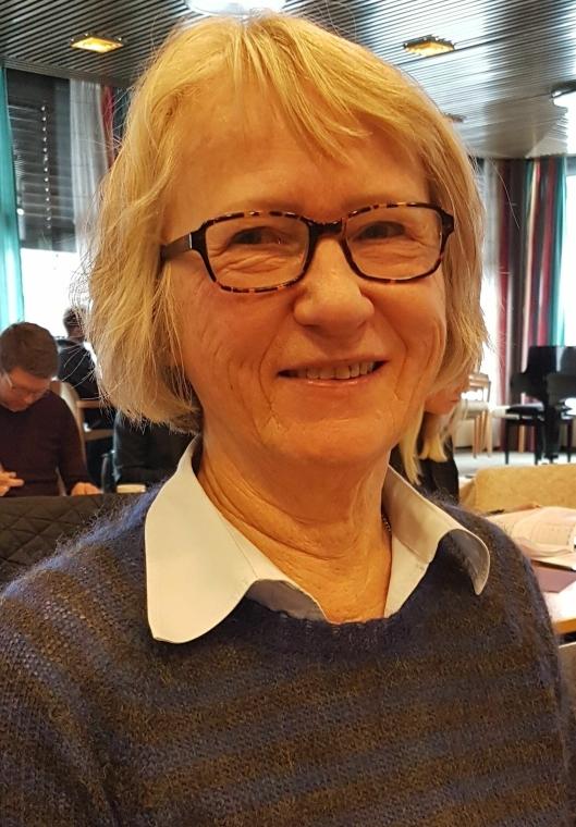 KRITISK TIL ÅTTE AVDELINGER: Inger Johanne Bjørnstad (SV) mener tomten er liten for åtte avdelinger.