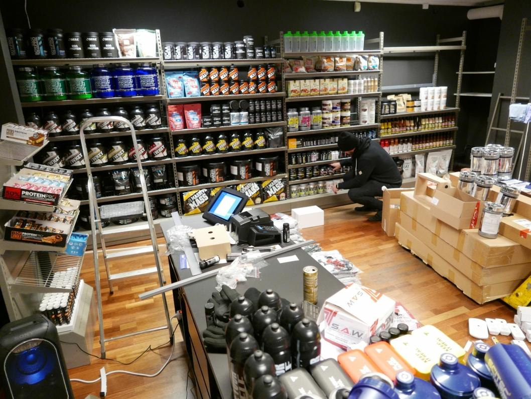 TRENINGSTILSKUDD: Butikken spesialiserer seg hovedsakelig innen treningstilskudd for atleter.