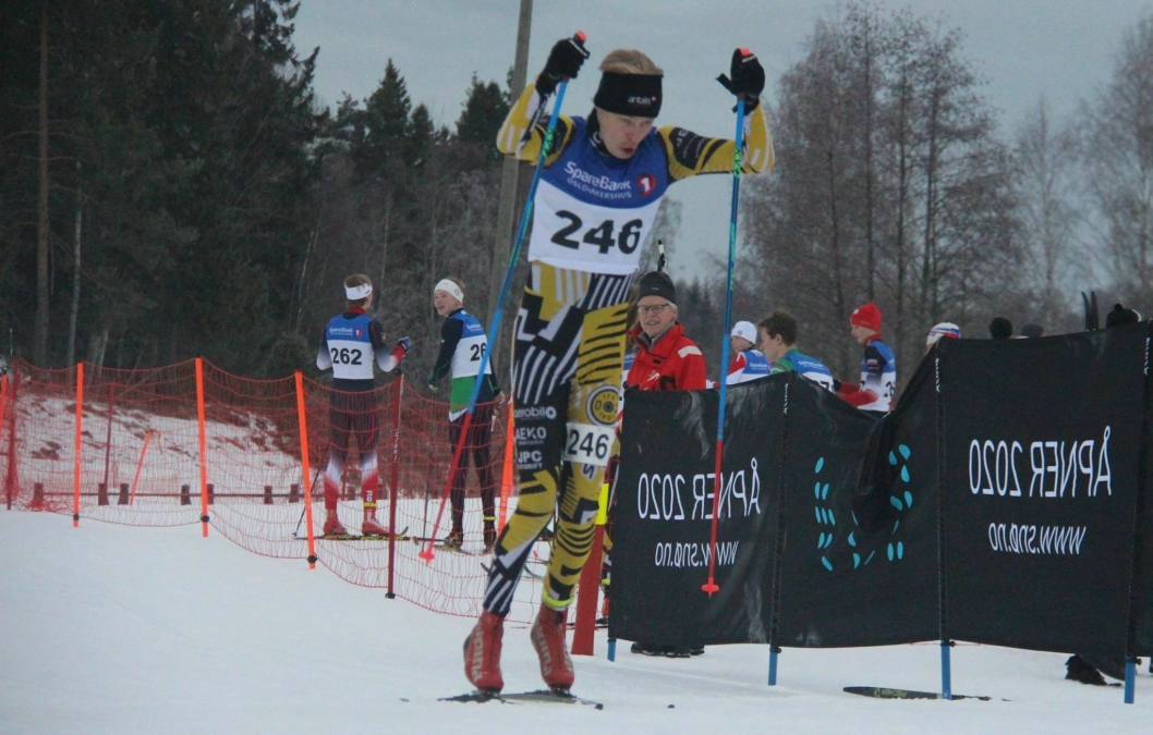 LOKAL DELTAGER: Marcus Tunestveit Andersen fra Oppegård tok en sterk 11. plass i 15-årsklassen.