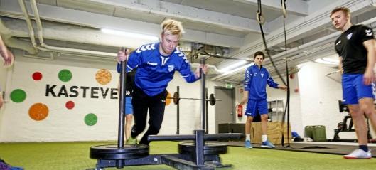 Knallhard trening for fotballgutta