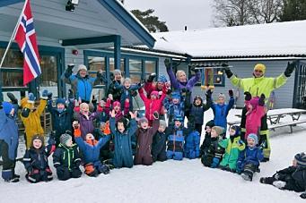 VM-glede i Holberg barnehage