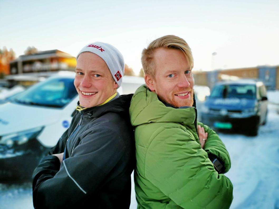 ENTREPRENØR-BRØDRE: Mens Tomas har tatt over Muribø installasjon har lillebror Kristian staret Muribø Bygg AS. Sammen har de mulighetene til å levere komplette tilbud til kundene.