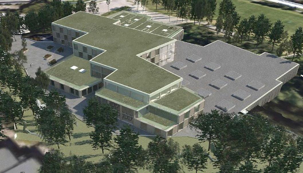 NY UNGDOMSSKOLE: Det skal bygges ny ungdomsskole med idrettshaller ved idrettsparken på Sofiemyr.