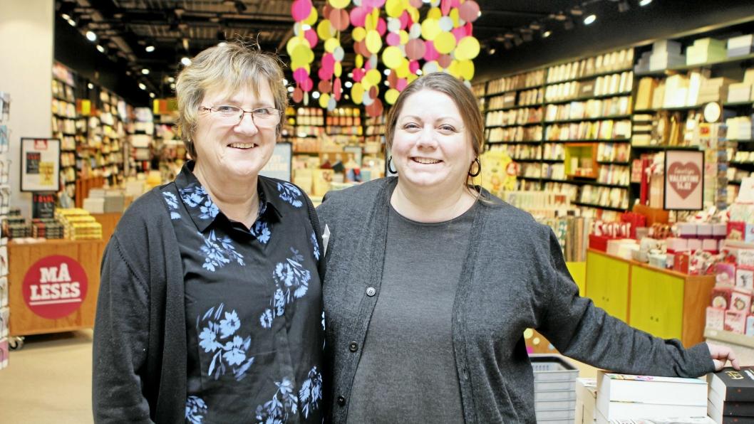 NY KJEDE: Brita Kvil og Toril Arveng ser frem til å bli med i ny bokhandelkjede fra 1. mars.
