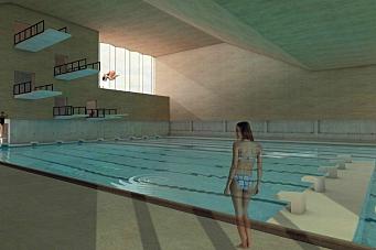 Nye svømmehallen på Langhus kan bli halvert