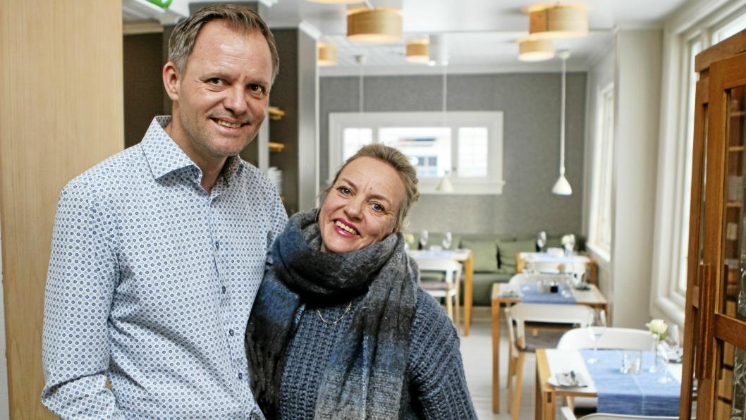 MANGE PLANER: Restaurantsjefene Vebjørn Aarflot og Helene Jahren kan se tilbake på 10 innholdsrike år i Tårnhuset. I år skal det feires.