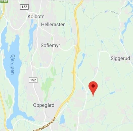 HER SKJEDDE LEKKASJEN: Fugleåsen industriområde ligger på Langhus i Ski kommune.