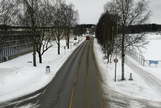 60 KM/T I DAG: Fartsgrensen er foreslått redusert mellom Taraldrudkrysset og Sofiemyr senter.