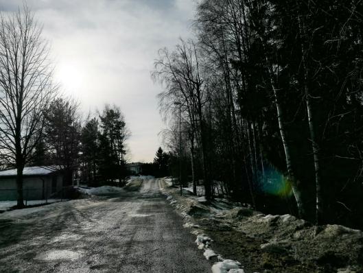 FORTAU PÅ VESTSIDEN: Tømteveien kan få et sammenhengende fortau på vestsiden av veien.