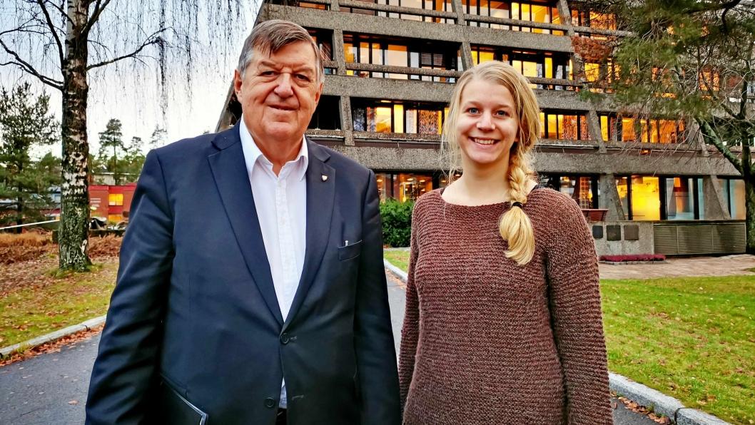 SVARER: Kjell G. Pettersen (H) og Ida Lindtveit Røse (KrF) svarer på innlegget til Jens Nordahl fra MDG.