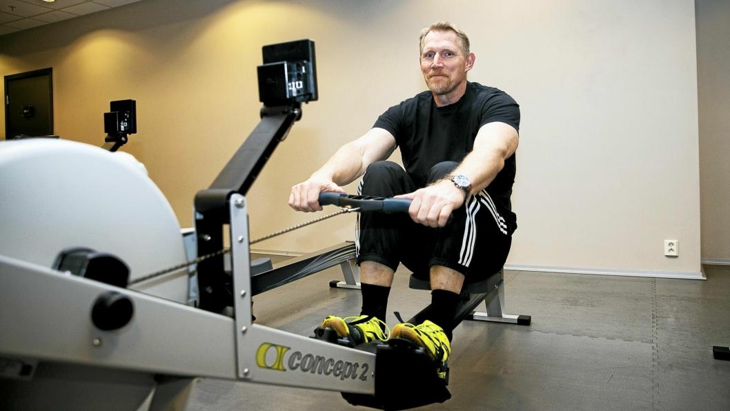 VERDENS BESTE SPRINTROER: Dirk Möller (53) fra Sofiemyr bruker mye tid bak romaskinen.