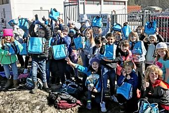 4. klassingene samlet inn 400 kilo batterier