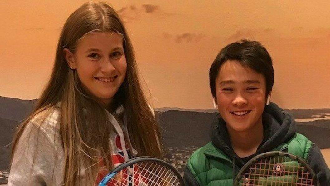 REPRESENTERTE OPPEGÅRD UNDER ÅRETS NM: Filippa Vale Frogner (16) fra Kolbotn og Jon William Karlstad (15) fra Greverud.