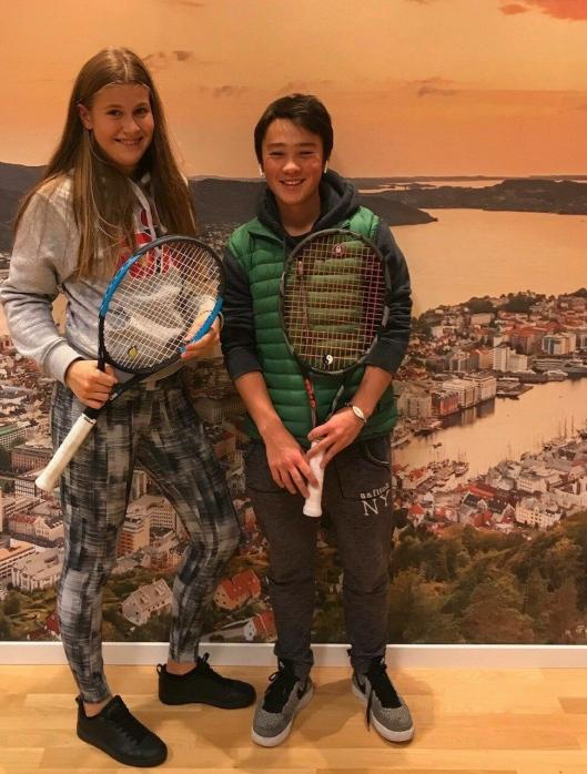GOD ERFARING: Filippa og Jon William vant jenteklassen og gutteklassen i Norges Cup på BTA i høstferien, samme arena som innendørs NM 2019 ble spilt på.
