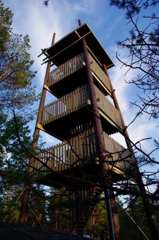 ATTRAKSJON: Branntårnet har allerede blitt et landemerke og en ny attraksjon i kommunen vår.
