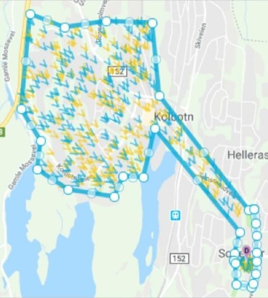 DET AKTUELLE OMRÅDET: Tilbudet vil gjelde et avgrenset geografisk område, det vil si ruten til busslinjen 83 på Ingieråsen, Vassbonn og Trollåsen).