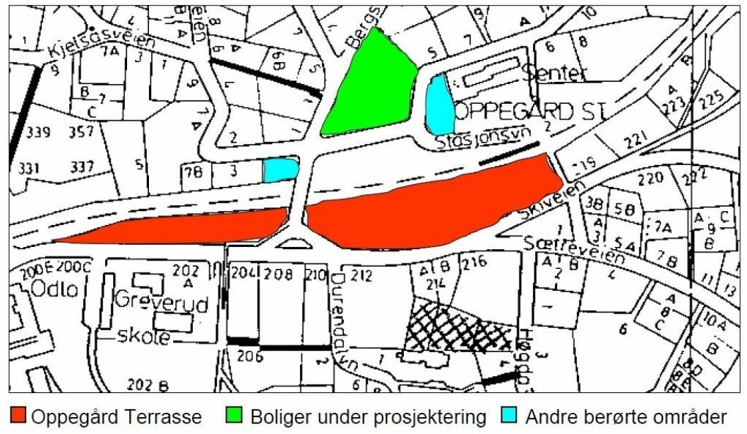 BERØRTE OMRÅDER: Illustrasjonen viser berørte områder.