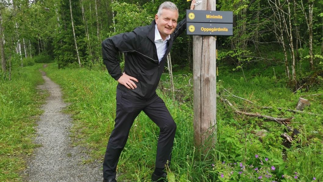 KLAR, FERDIG, GÅ: Arrangementsansvarlig, Knut Oppegaard, er klar for årets Oppegårdmila.