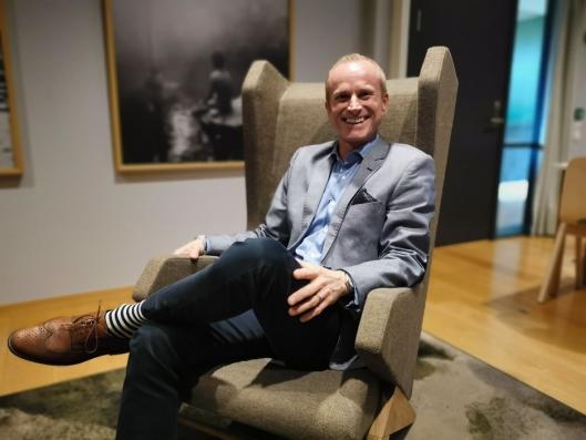 FORNØYD: Styreleder i The Well, Kristian Gundersen, gleder seg til hotellet blir ferdig.