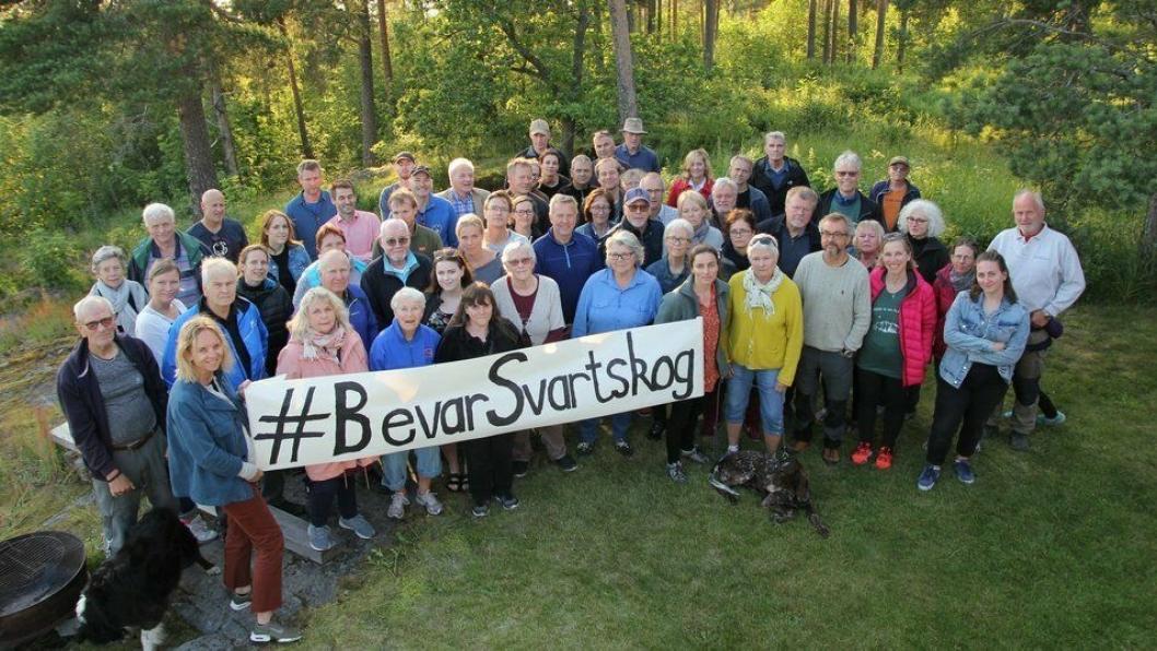 FIKK STØTTE AV MANGE: Facebook-gruppen «Bevar Svartkog» ble opprettet i begynnelsen av juni i år og har nå fått over 800 medlemmer.