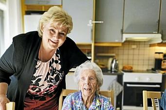 – Det er imponerende å møte en dame som er blitt så gammel, men likevel så frisk.