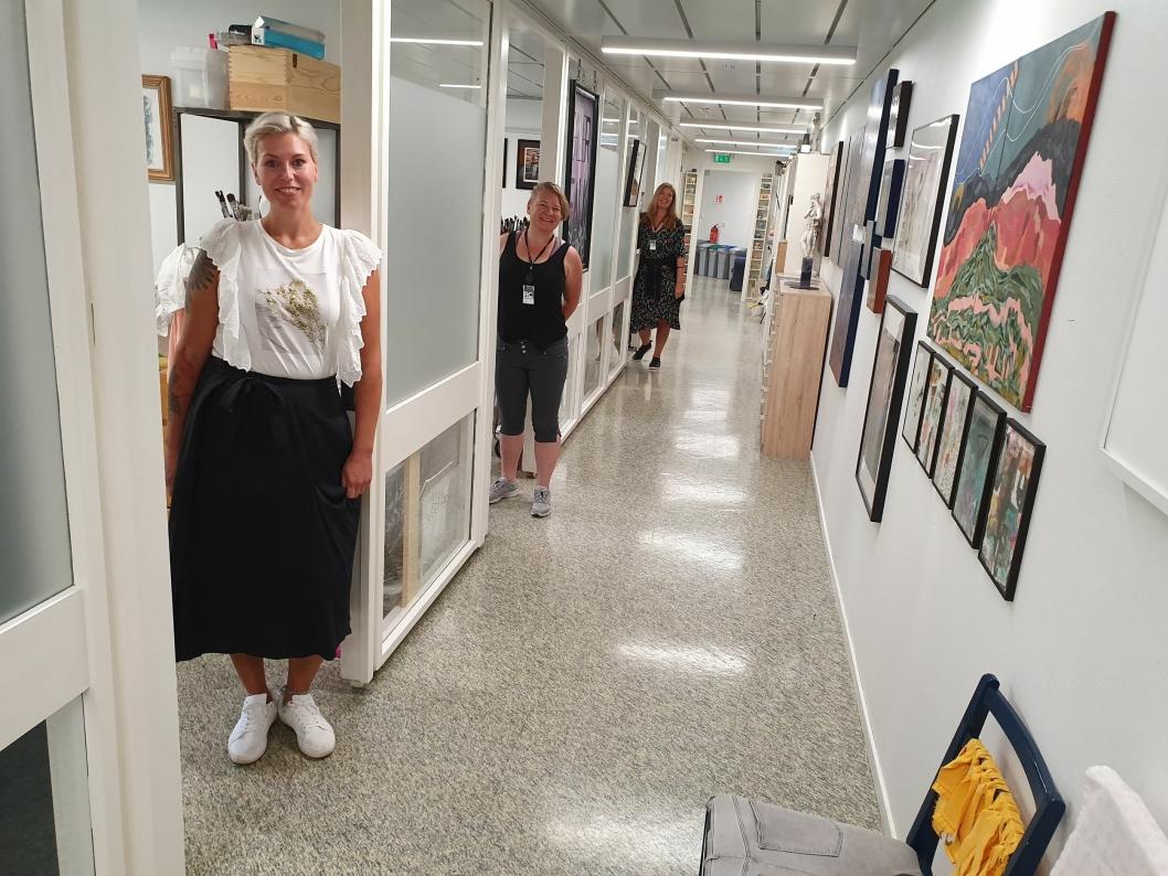 ÅPEN DAG: Lørdag 17. august skal lokalene til kunstKALL på Rosenholm Campus åpnes for alle.