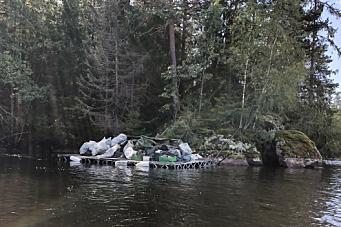 Ryddet bort søppel på forlatt leir ved Gjersjøen