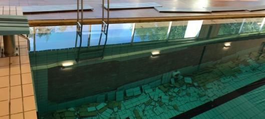 Svømmehallen blir stengt i flere måneder