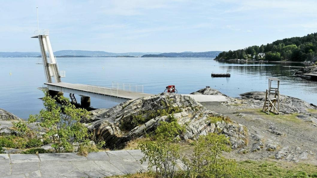 17 GRADER: Onsdag 28. august var det målt 17 grader i vannet på Ingierstrand.