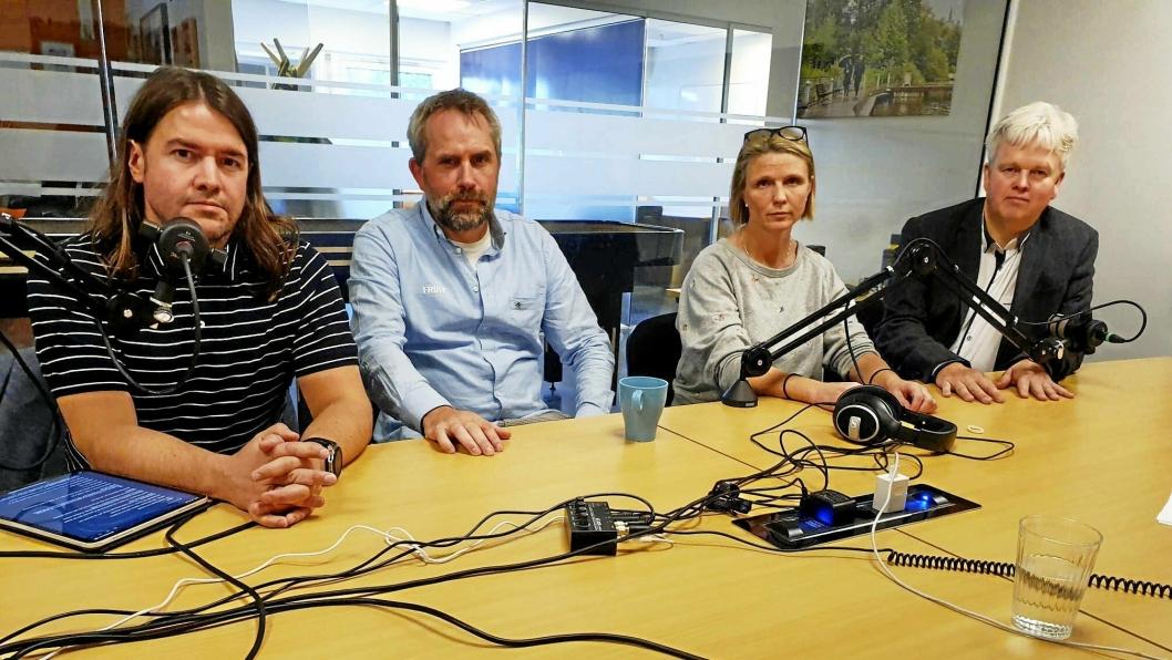 Anders Eidsvaag Graven, Paal Sjøvall, Camilla Hille og Tønnes Stenersen er svært overrasket over samarbeidet mellom Høyre og Arbeiderpartiet.