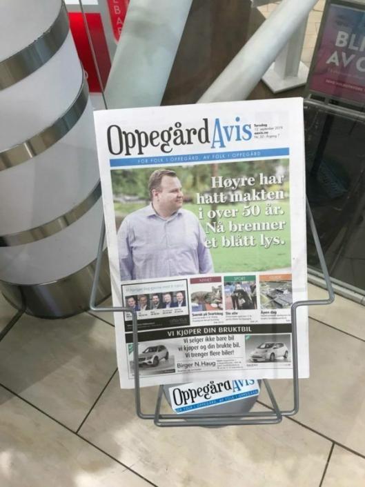 VARTE IKKE LENGE: «Høyre har hatt makten i over 50 år. Nå brenner et blått lys», skrev lokalavisen, men det varte ikke lenge.