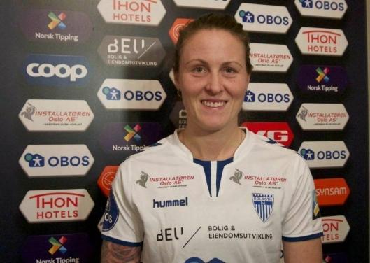 VIKTIG MÅL: Isabell Herlovsen banket inn det viktige 3-2-målet mot Stabæk.