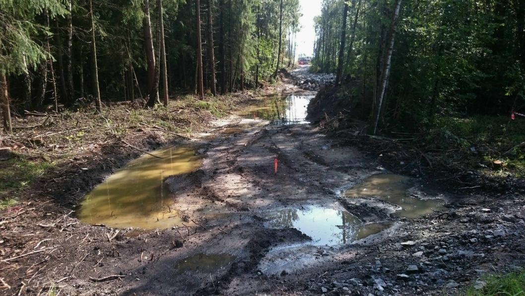 NY INFRASTRUKTUR: Natur må vike plass for ny infrastruktur.
