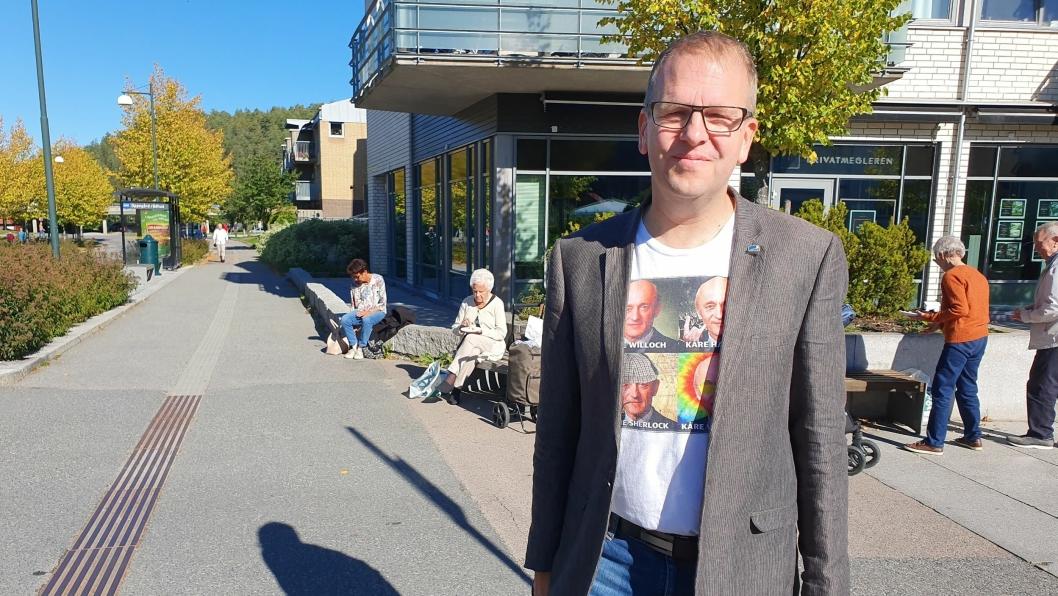 STØTTER IKKE FORSLAGET OM TOPPENHAUG: Den nyvalgte kommunestyrerepresentant for Nordre Follo Høyre, Helge Marstrander.