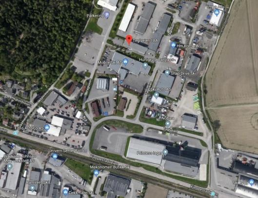 22 ANSATTE FRA OPPEGÅRD SKAL FLYTTE HIT: Virksomheten Vann og avløp fra Oppegård skal flytte til Ski (Drømtorp driftsentral i Teglveien 18A) hvor den kommunaltekniske virksomheten i Ski kommune, Kommunalteknikk, holder til i dag.