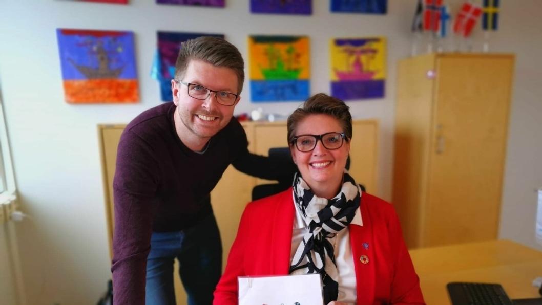 LEDERNE: Hanne Opdan og Hans Martin Enger blir ordfører og varaordfører i Nordre Follo de neste fire årene.