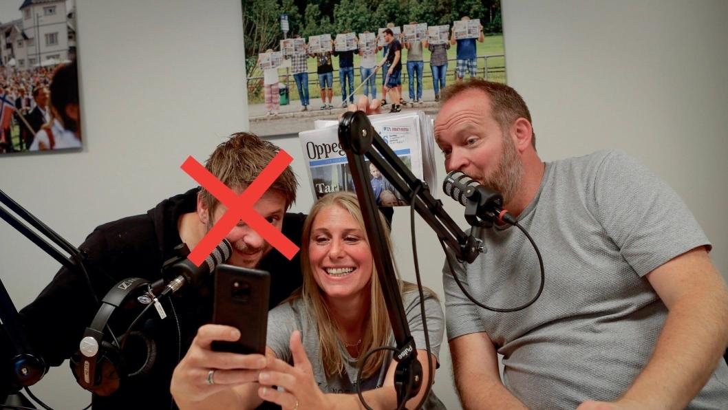 UTE: Kanskje du gjetter hvem av det faste panelet som ikke er i studio denne uken ved å se på dette bildet...