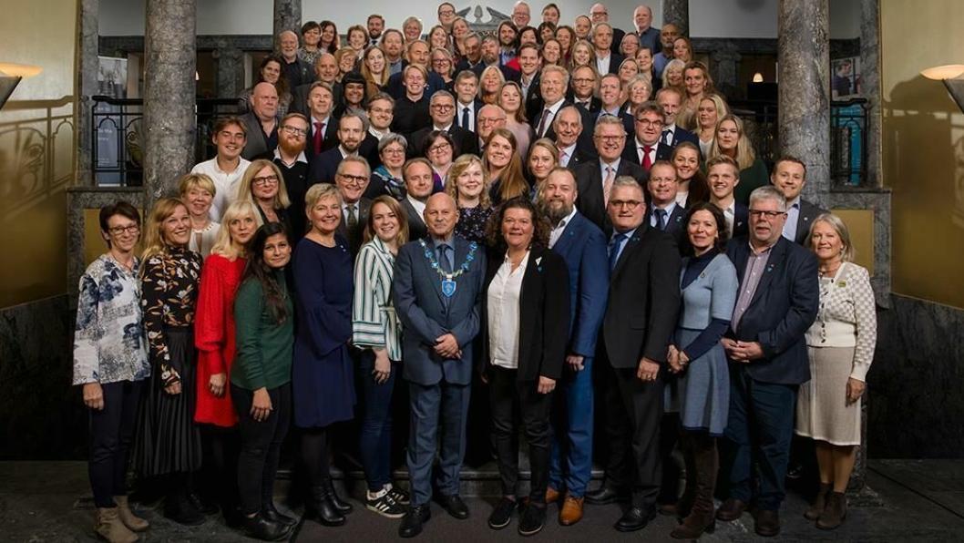 HISTORISKE: Dette er det 87 medlemmene i fylkestinget i Viken fylkeskommune.