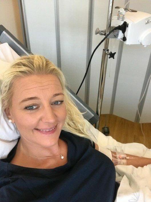 SYKESENGEN: I sommer ble hun diagnostisert med MS på Ahus etter et kraftig attakk.