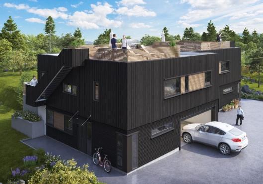 KOMMER SNART: Dette er det ferskeste prosjektet til AEKO og skal bygges i Vinkelveien på Myrvoll.