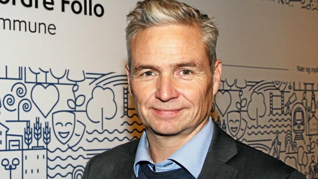 STYRELEDER: Jarle Ørnebo er styrleder for Oppegård Næringsforum. Dette bildet ble tatt før det konstituerende kommunestyremøtet i Nordre Follo 17. oktober.
