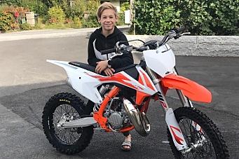Sebastian (13) ble tatt ut på landslaget i motocross