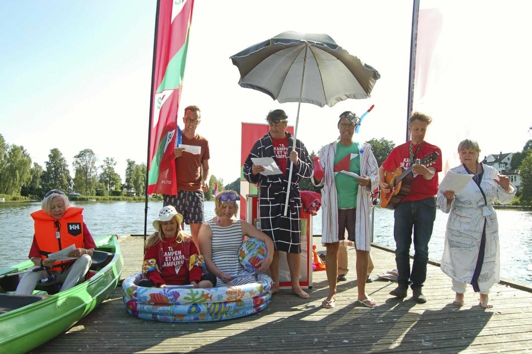 VIKTIG SAK FOR INNBYGGERNE: Innbyggerinitiativet «Rens Kolbotnvannet», fremmet av Oppegård SV, ble signert av 483 personer.